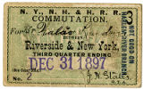 Railroad Commutation Ticket